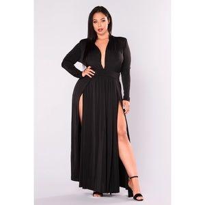 Fashion Nova Spree Dress 3x Black NWT